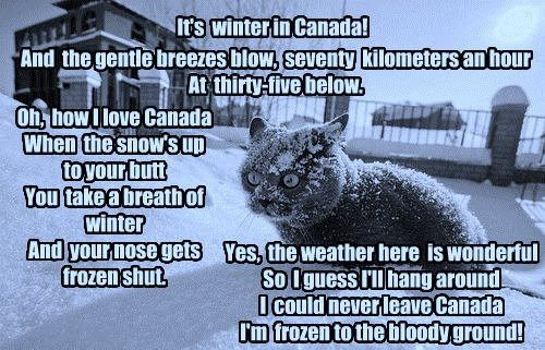 Winter in Canada!