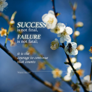Success/Failure - Winston Churchill