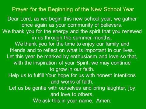 First Day of School Prayer