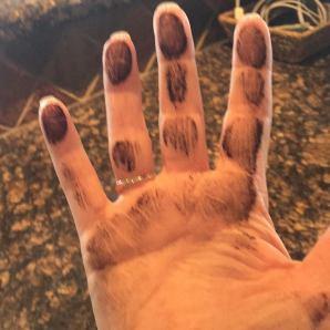 sooty hand